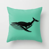 moby Throw Pillows featuring Moby by muffa