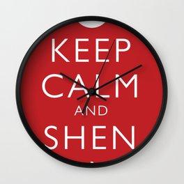 Keep Calm and Shen Long Wall Clock