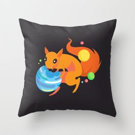 Eater of Worlds Squirrel of Doom Throw Pillow