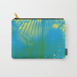 turquoise palm leaf Carry-All Pouch