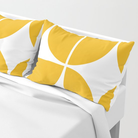 Mid Century Modern Yellow Square by theoldartstudio