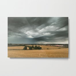 Stormy Sky Over Sawtry Metal Print