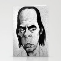 nick cave Stationery Cards featuring Nick Cave by Mr Shins