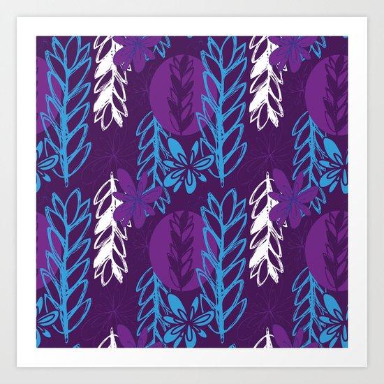 Patterned Purple Art Print