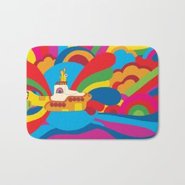 Yellow Submarine Bath Mat