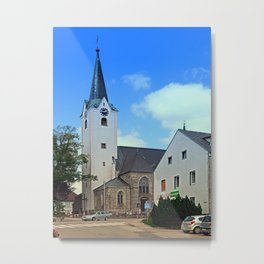 The village church of Oberneukirchen I | architectural photography Metal Print