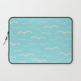 Beach Series Aqua - Sea Gulls Birds in the blue Sky Laptop Sleeve