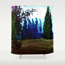 Mimosa in bloom Shower Curtain