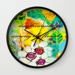 Daydreaming Among the Flowers Wall Clock