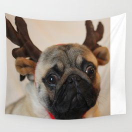 A very puggy Christmas Wall Tapestry