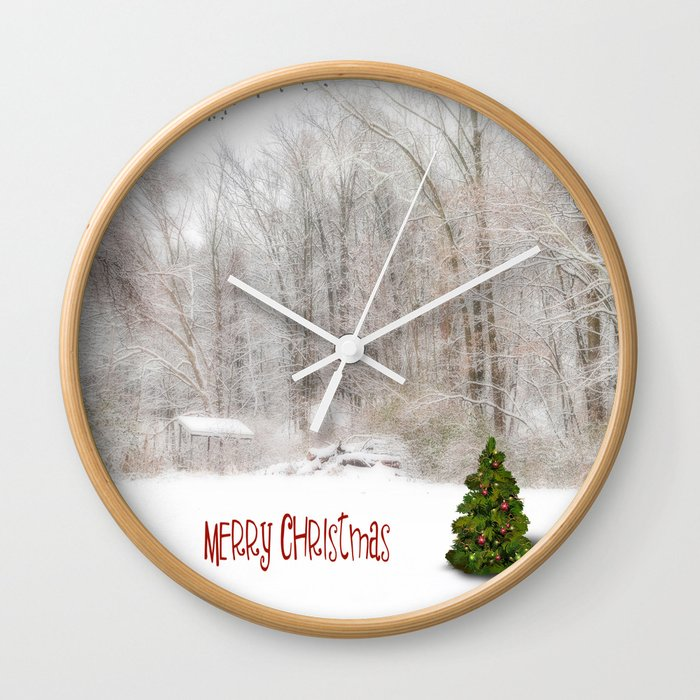 O christmas tree wall clock by marytimman society