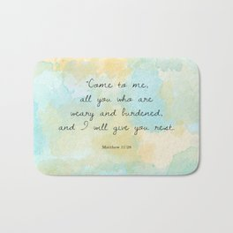 Matthew 11:28 Bath Mat