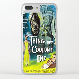The Thing That Couldn't Die - Vintage Horror Movie Poster Clear iPhone Case