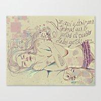 murakami Canvas Prints featuring murakami by Krn Rmirz