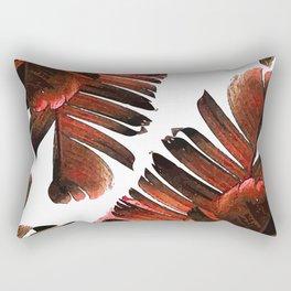 Banana Leaf - Tropical Leaf Print - Botanical Art - Modern Abstract - Brown, Copper, Red Rectangular Pillow