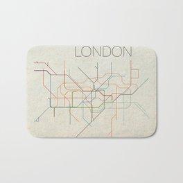 Minimal London Subway Map Bath Mat