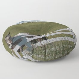 Horse in the Palouse Floor Pillow