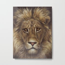 Lion Portrait | Christmas Gifts Metal Print