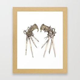 Scissorhands (Sepia) Framed Art Print