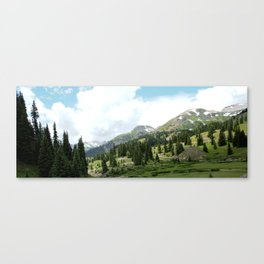 Looking Down on the Black Bear Pass Road from the Longfellow Mine Canvas Print
