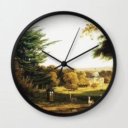 Tardis Art Summer Painting Wall Clock