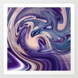 Purple flow Art Print