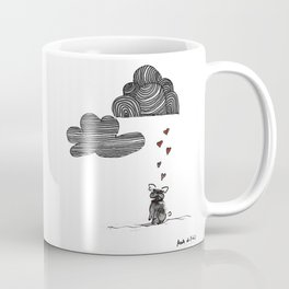 """""""Clouds are not clouds"""", french bulldog art by BoubouleArt Coffee Mug"""