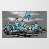 zissou Area & Throw Rugs featuring Team Zissou Crossing the Delaware by Tom Ledin