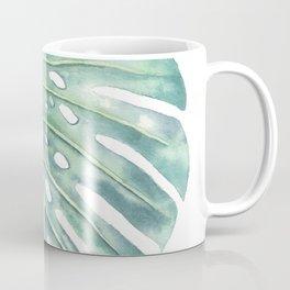 Artbyjlan Monstera Deliciosa Botanical Watercolor Painting Coffee Mug