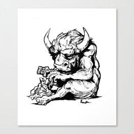 A Minotaur in Repose Canvas Print