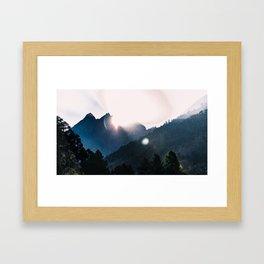 Nepal series | Sunrise on Path to Namche, Himalayas Framed Art Print