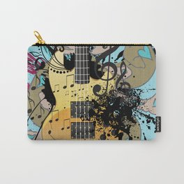 Grunge modern guitar Carry-All Pouch