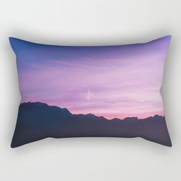 Winter Sunset with Mountains - Landscape Photography Rectangular Pillow