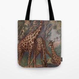 Vintage Giraffe Painting (1909) Tote Bag