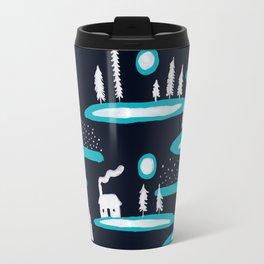 Snowy Cabins Travel Mug