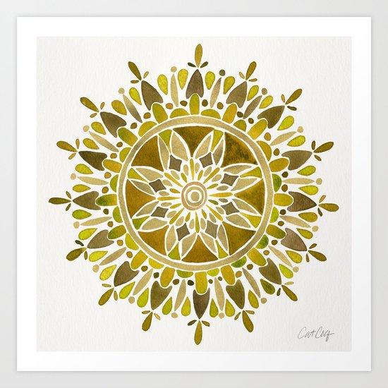 Gold Mandala Art Print
