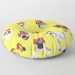 Political Pups - When We All Vote Floor Pillow