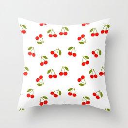 CHERRY CHERRIES FRUIT FOOD PATTERN Throw Pillow