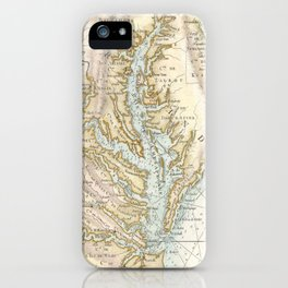 Vintage Map of The Chesapeake Bay(1778) 2 iPhone Case