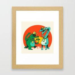 Kaiju Rap Battle Framed Art Print