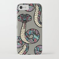 anaconda iPhone & iPod Cases featuring Anaconda by schillustration