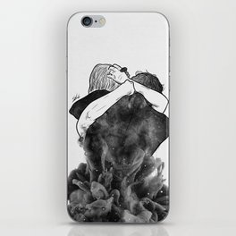 Impressive hug. iPhone Skin