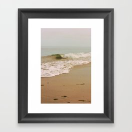Ocean Waves on the Beach Framed Art Print