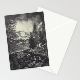 timeless mountains Stationery Cards