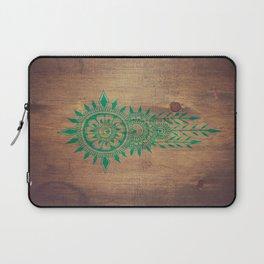 emerald green rustic mandala Laptop Sleeve