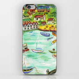 Day at the Harbor iPhone Skin