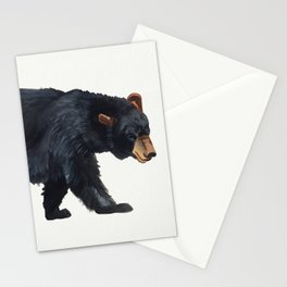 Watercolour Black Bear Drawing Stationery Cards