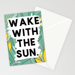 wake the sun Stationery Cards