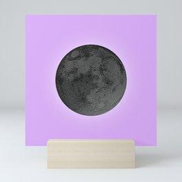 BLACK MOON + LAVENDER SKY Mini Art Print