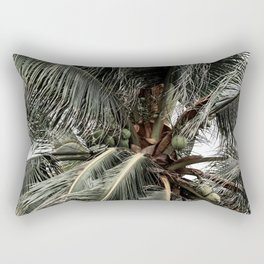 Green Coconuts Rectangular Pillow